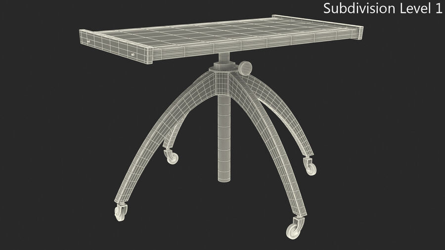 Vintage Adjustable TV Stand royalty-free 3d model - Preview no. 9