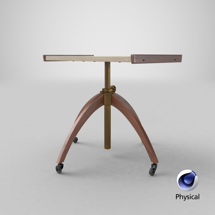 Vintage Adjustable TV Stand royalty-free 3d model - Preview no. 16