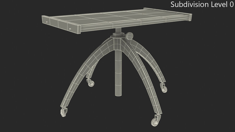 Vintage Adjustable TV Stand royalty-free 3d model - Preview no. 8
