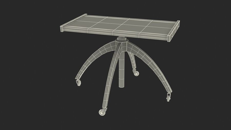 Vintage Adjustable TV Stand royalty-free 3d model - Preview no. 13