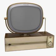 Vintage Antique 50s TV 3d model
