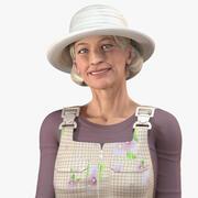 Fazendeira idosa preparada para Modo 3d model