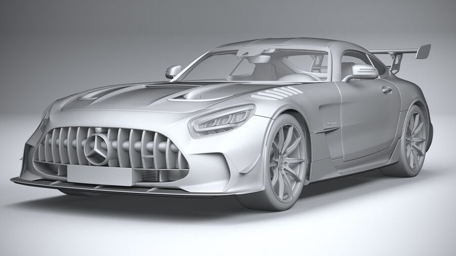 Mercedes AMG GT Black Series 2021 royalty-free 3d model - Preview no. 21