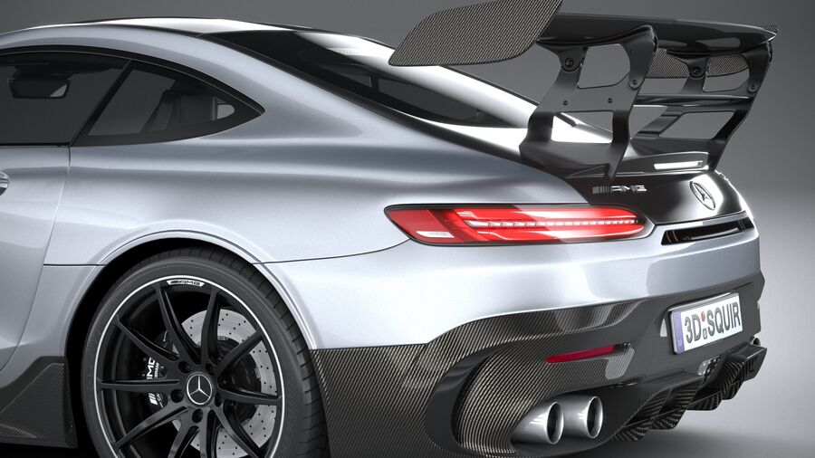 Mercedes AMG GT Black Series 2021 royalty-free 3d model - Preview no. 7