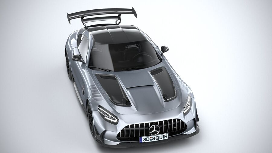 Mercedes AMG GT Black Series 2021 royalty-free 3d model - Preview no. 13