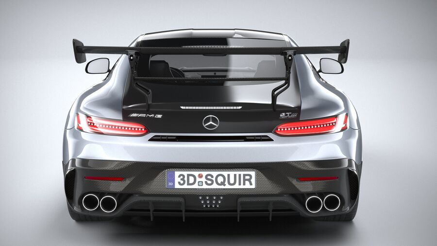Mercedes AMG GT Black Series 2021 royalty-free 3d model - Preview no. 5