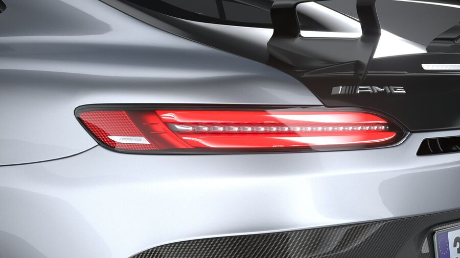 Mercedes AMG GT Black Series 2021 royalty-free 3d model - Preview no. 16