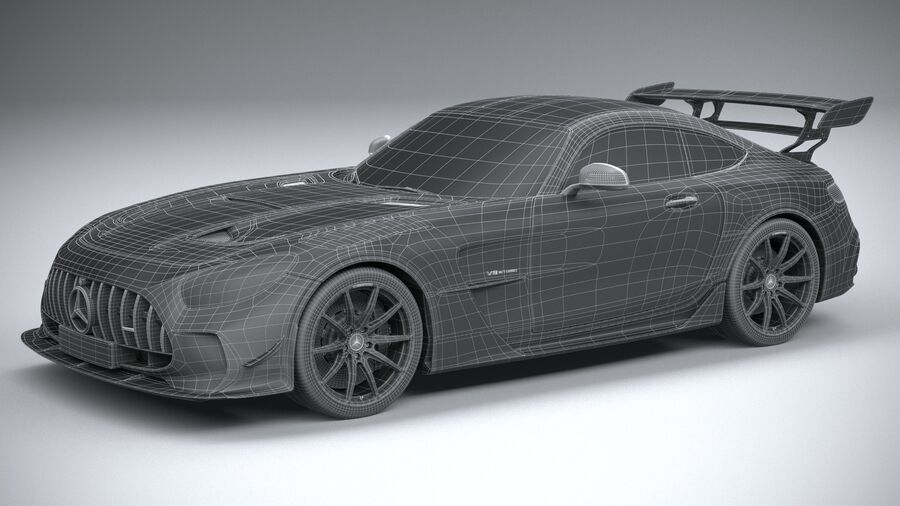 Mercedes AMG GT Black Series 2021 royalty-free 3d model - Preview no. 32