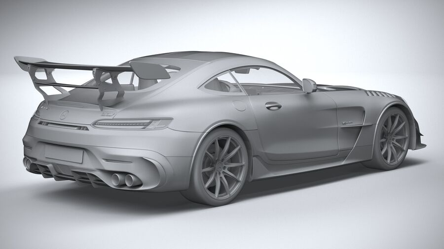 Mercedes AMG GT Black Series 2021 royalty-free 3d model - Preview no. 26