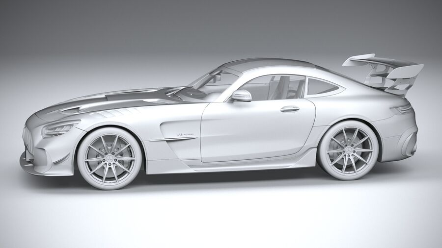 Mercedes AMG GT Black Series 2021 royalty-free 3d model - Preview no. 23