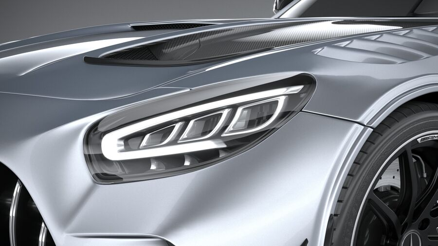 Mercedes AMG GT Black Series 2021 royalty-free 3d model - Preview no. 15