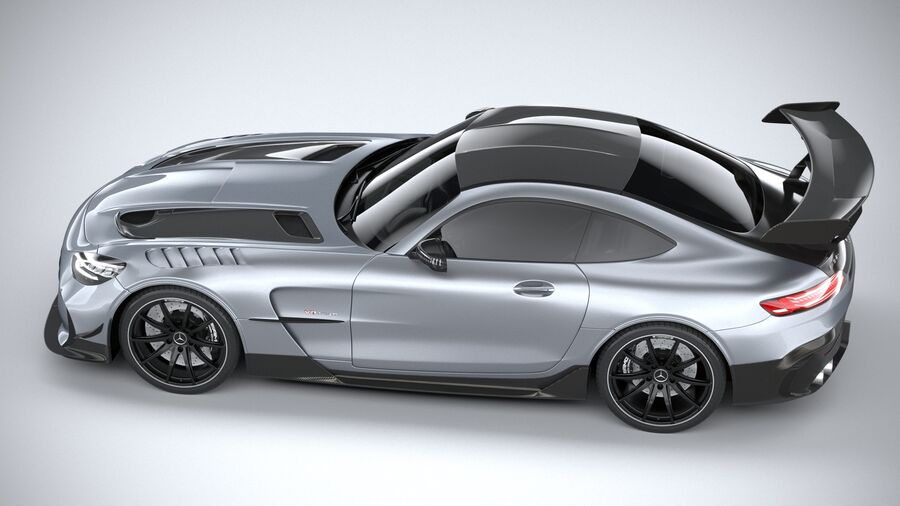 Mercedes AMG GT Black Series 2021 royalty-free 3d model - Preview no. 10