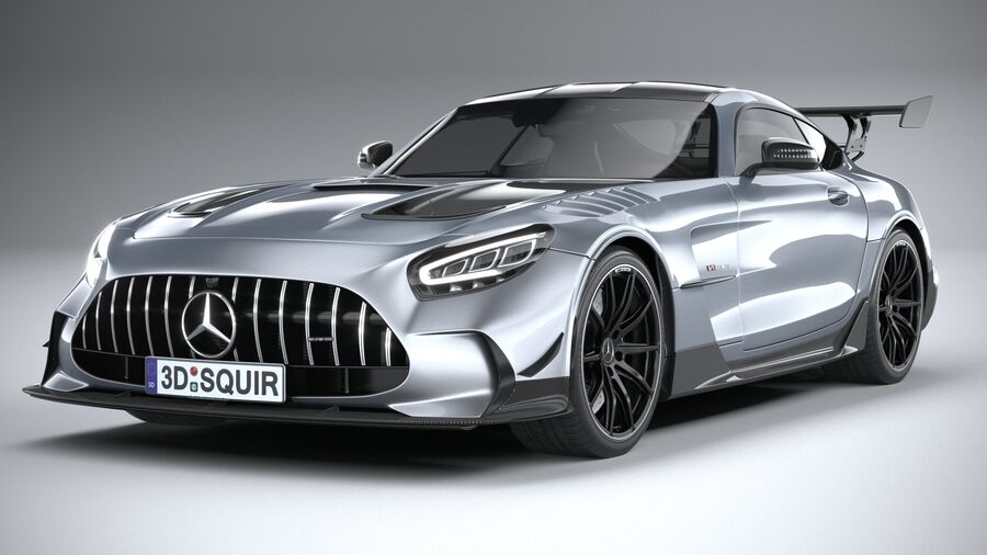 Mercedes AMG GT Black Series 2021 royalty-free 3d model - Preview no. 3