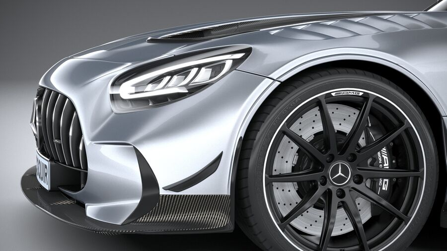 Mercedes AMG GT Black Series 2021 royalty-free 3d model - Preview no. 4