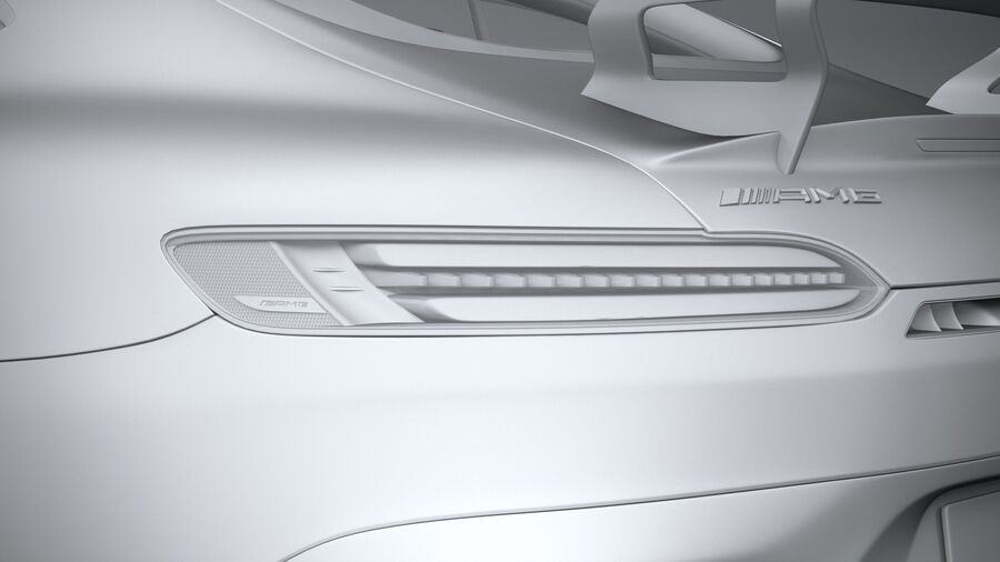 Mercedes AMG GT Black Series 2021 royalty-free 3d model - Preview no. 25