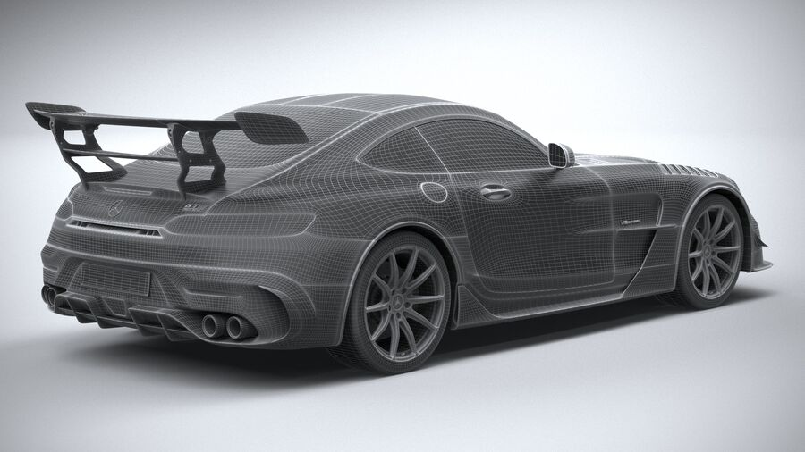 Mercedes AMG GT Black Series 2021 royalty-free 3d model - Preview no. 31