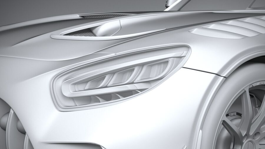 Mercedes AMG GT Black Series 2021 royalty-free 3d model - Preview no. 24