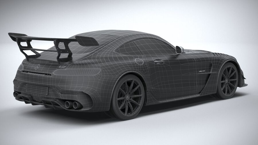 Mercedes AMG GT Black Series 2021 royalty-free 3d model - Preview no. 33