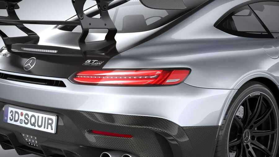 Mercedes AMG GT Black Series 2021 royalty-free 3d model - Preview no. 19