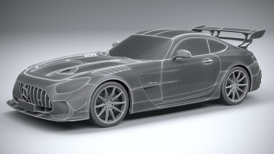 Mercedes AMG GT Black Series 2021 royalty-free 3d model - Preview no. 30