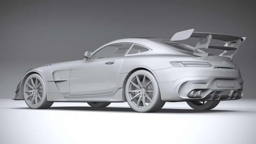 Mercedes AMG GT Black Series 2021 royalty-free 3d model - Preview no. 22
