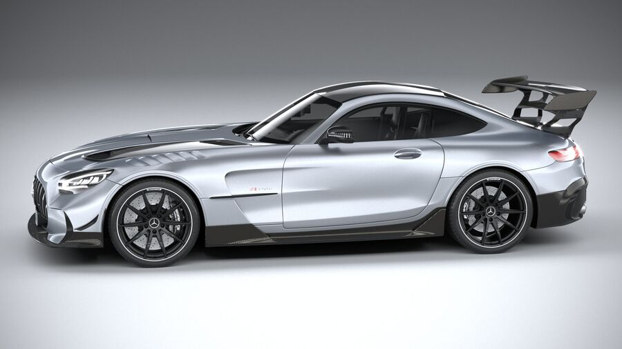 Mercedes AMG GT Black Series 2021 royalty-free 3d model - Preview no. 9