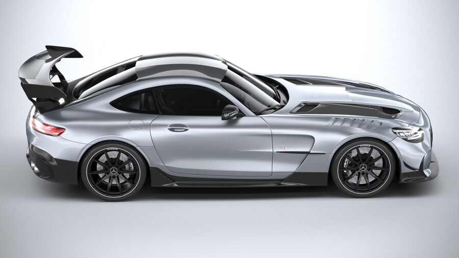 Mercedes AMG GT Black Series 2021 royalty-free 3d model - Preview no. 12