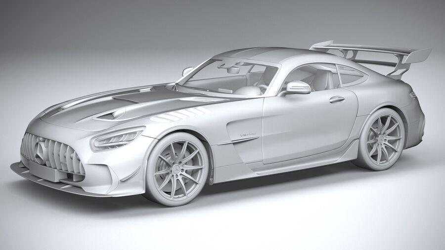 Mercedes AMG GT Black Series 2021 royalty-free 3d model - Preview no. 20