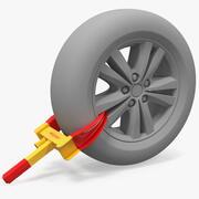 Anti-Diebstahl-Reifen-Parkschloss 3d model