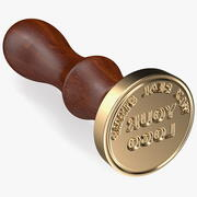 Brass Wax Seal Stamp 3d model