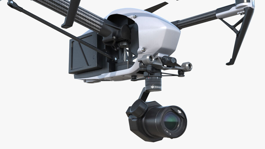 DJI Inspire 2 with Zenmuse X7 Camera royalty-free 3d model - Preview no. 12