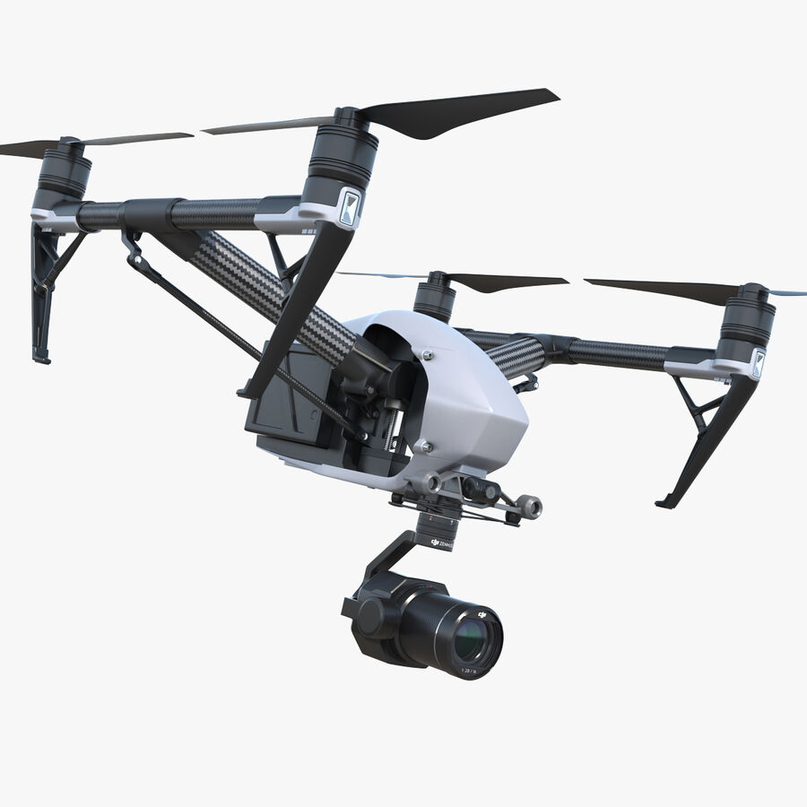 DJI Inspire 2 with Zenmuse X7 Camera royalty-free 3d model - Preview no. 1