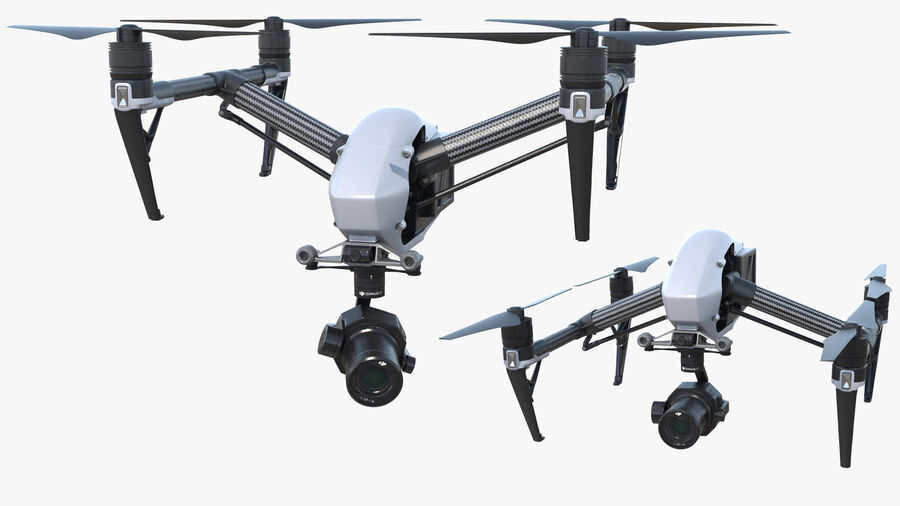 DJI Inspire 2 with Zenmuse X7 Camera royalty-free 3d model - Preview no. 6