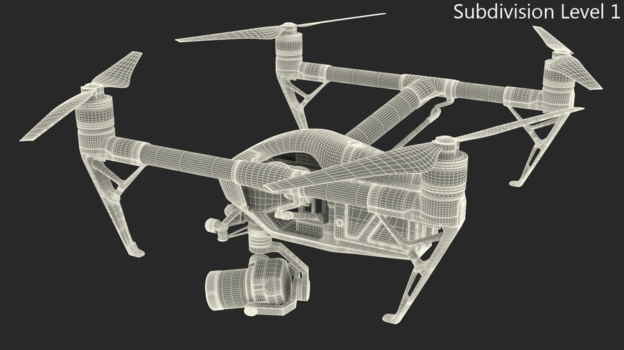 DJI Inspire 2 with Zenmuse X7 Camera royalty-free 3d model - Preview no. 16
