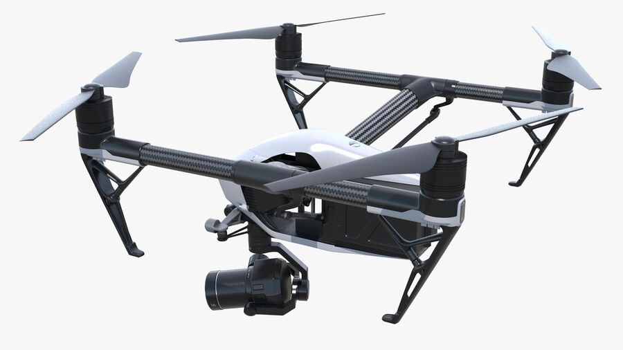 DJI Inspire 2 with Zenmuse X7 Camera royalty-free 3d model - Preview no. 7