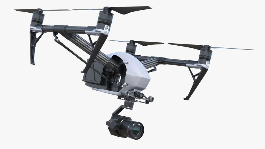 DJI Inspire 2 with Zenmuse X7 Camera royalty-free 3d model - Preview no. 2