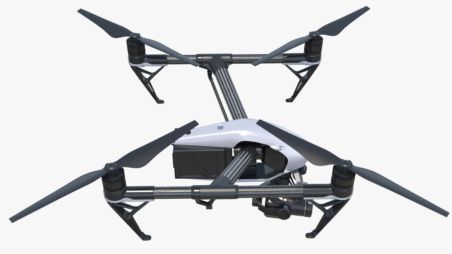 DJI Inspire 2 with Zenmuse X7 Camera royalty-free 3d model - Preview no. 11