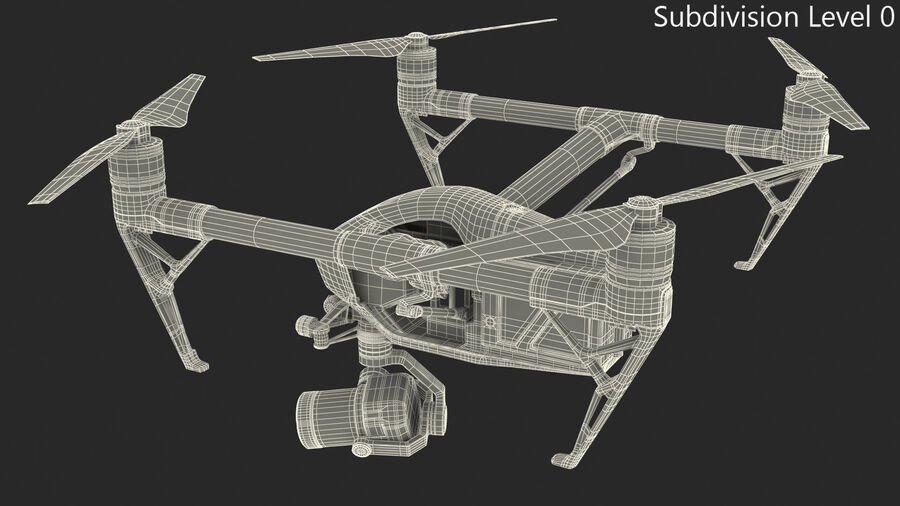 DJI Inspire 2 with Zenmuse X7 Camera royalty-free 3d model - Preview no. 15
