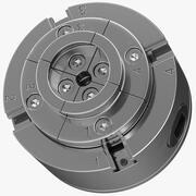 Verstelbare 4-klauw zelfcentrerende klauwplaat 3d model