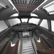 Kabina Boeing B52 Stratofortress 3d model
