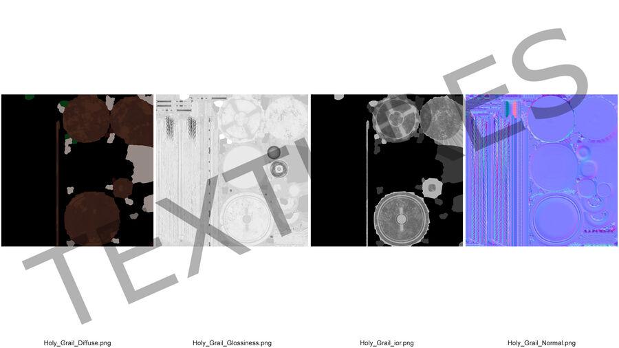 성배 컵 royalty-free 3d model - Preview no. 15