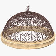 Antique Metal Dome Roof 3d model