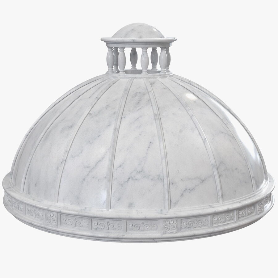 Antique Marble Dome royalty-free 3d model - Preview no. 1