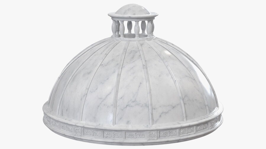 Antique Marble Dome royalty-free 3d model - Preview no. 2
