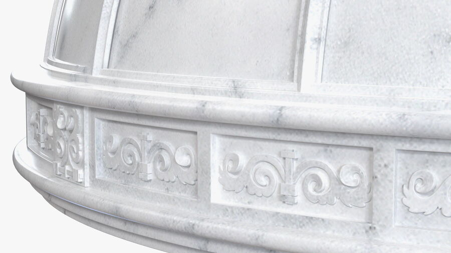 Antique Marble Dome royalty-free 3d model - Preview no. 10