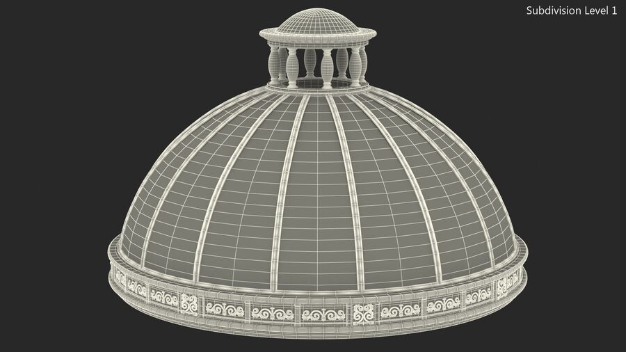 Antique Marble Dome royalty-free 3d model - Preview no. 14