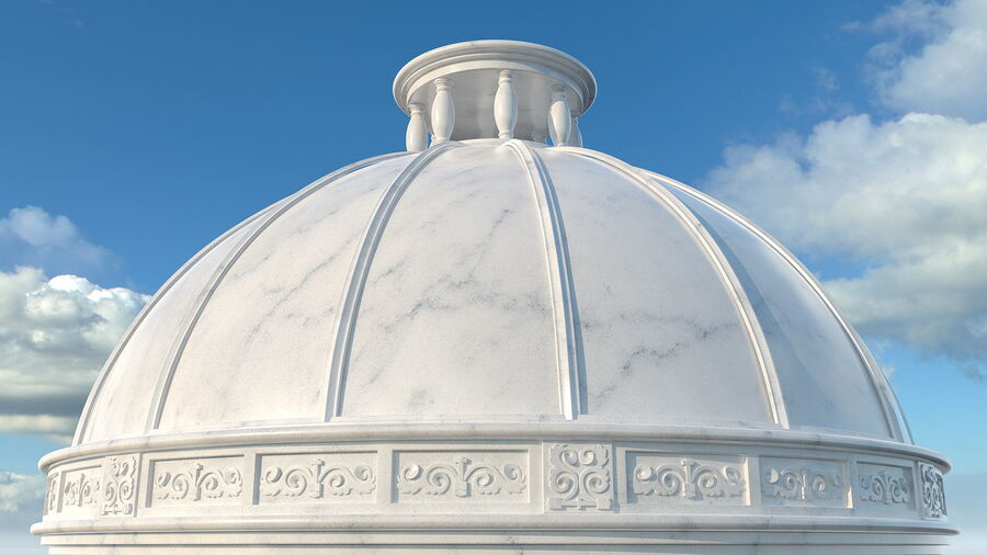 Antique Marble Dome royalty-free 3d model - Preview no. 3