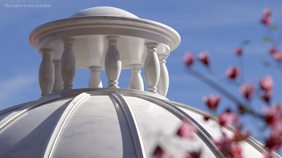 Antique Marble Dome royalty-free 3d model - Preview no. 6