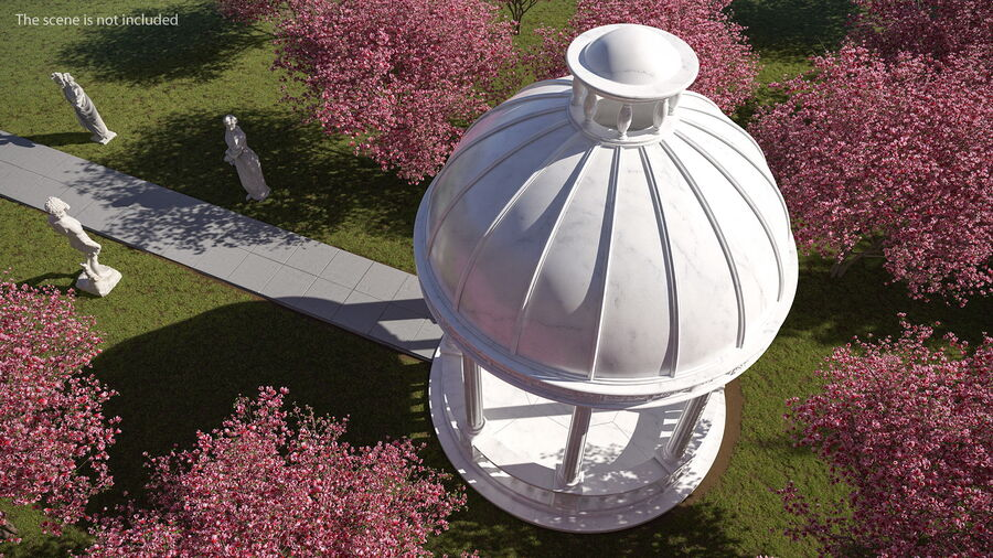 Antique Marble Dome royalty-free 3d model - Preview no. 5