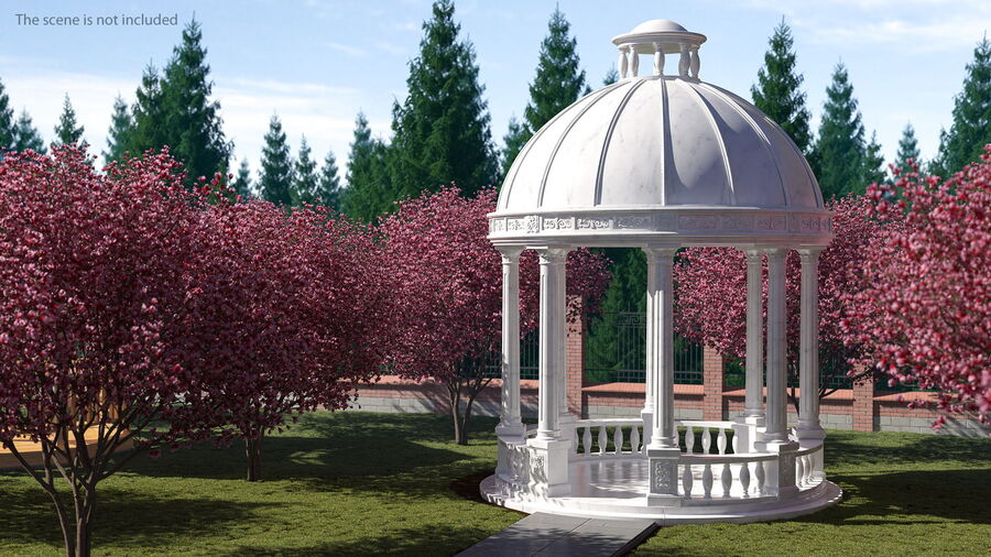 Antique Marble Dome royalty-free 3d model - Preview no. 4